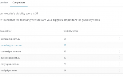 What are Search Visability Scores